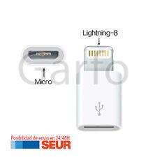 Adaptador microusb micro usb a conector lightning 8 pin para Iphone 5 5s 5c