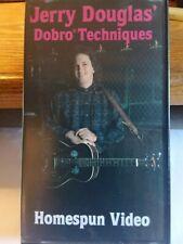 Jerry Douglas Dobro Techniques Homespun Video 1989 Vhs Fine