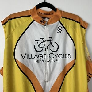 Mens Canari Sleeveless Cycling Jersey - Yellow - The Villages Florida - XXL 2XL