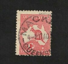 1913 Australia Stamps 1d red Roo SG 2 variety cut throat rare nice CDS