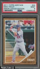 2011 Topps Heritage Minor League Edition Mike Trout RC Rookie PSA 9 MINT