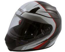 Integral Helmet, Scooter Motorcycle Helmet Takachi TK41 Schw-Weiß-Rot - Size XL