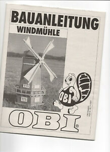 Bauplan  Bauanleitung  Windmühle