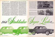 1964 STUDEBAKER SUPER LARK 289  ~  ORIGINAL 6-PAGE ROAD TEST / ARTICLE / AD