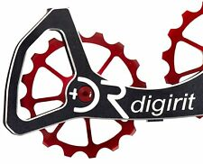 Digirit Ultegra & Dura Ace 9000 Red Oversize Ceramic bearing Pullys Wheels Set