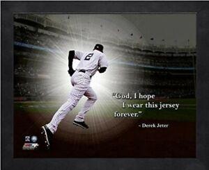 "Derek Jeter New York Yankees MLB Pro Quotes Photo (Size: 12"" x 15"") Framed"