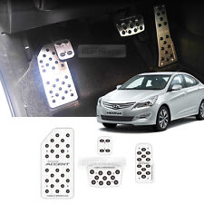 Pedal Kit Cover Hairline Printing Plate Metal for HYUNDAI 11-16 Verna New Accent