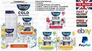TETLEY COLD INFUSIONS RASPBERRY & CRANBERRY/ORANGE & PEACH