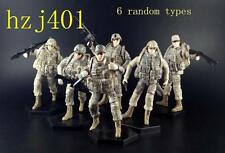1/18  six US soldiers army/military action figures completed