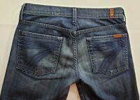 7 for All Mankind Dojo Womens Denim Blue Jeans Size 27 x 29 Boot Cut Medium Wash