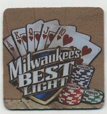 Milwaukee's Best Light Beer COASTER - Royal Flush Poker