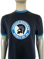 Trojan Records Tee - Trojan Records Men's TC1006 Spirit of 69 Crew Tee Navy