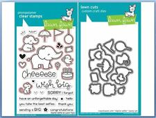 Lawn Fawn Photopolymer Clear Stamp & Die Combo ~ ELPHIE SELFIE   ~LF1328, LF1329