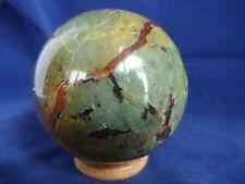 boule sphère en chrysophrase de 452 grs diametre 7.3 cm de Madagascar e41