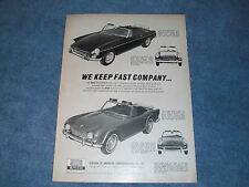 "Amco Accessories Mgb Sprite MG Midget Vintage Ad ""We Keep Rápido Company"""