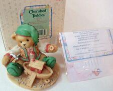 Yule Cherished Teddies 141143 Bear Christmas Santa's Workshop Elf Boat 1995