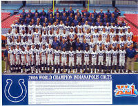 2006 SUPER BOWL CHAMPION INDIANAPOLIS COLTS  8X10 TEAM PHOTO MANNING FOOTBALL