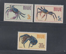 Niue 1969 Crabs Sc 132-134  complete mint never hinged