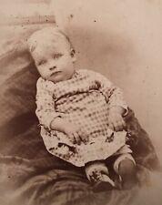 1870's Carte De Visite CDV Baby Toddler Post Mortem Monroe Michigan
