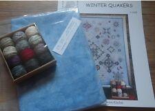 Rosewood Manor Winter Quakers Chart.Valdani threads.Linen.Worldwide shipping.