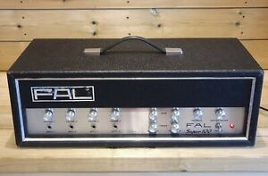 Vintage FAL Super 100 Guitar / PA Amplifier with 4 Inputs & 3 Outlets