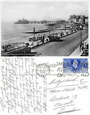England - Royal Parade & Pier Eastbourne ANIMATED+CAR YEAR 1946 (S-L 207)