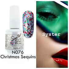 SYSTER 15ml Nail Art Soak Off Color UV Gel Polish N076 - Christmas Sequins