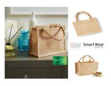 Shimmer Jute Mini Gift Bag  Bottle Bag W431 W433  5 &10 PACK