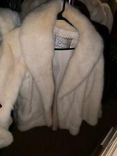 Stunning Vintage Off White Blonde Beige Real Mink Fur Coat Jacket