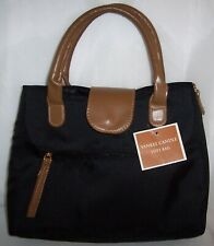 """Yankee Candle Black Tote Bag/Purse Soft w/ Brown Handles Approx 14"""" x 12"""" - NEW"""