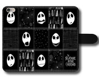 Jack Skellington Pattern Nightmare Christmas Magnetic Leather Phone Case Cover