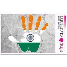 Aufkleber A4 - Indien - Hand - Fahne bumper sticker car flag Flagge mano india