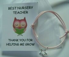 NURSERY TEACHER THANK YOU GIFT END OF YEAR TERM SCHOOL LEAVING GIFT BRACELET