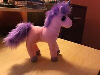 TY Pink & Purple Colorful Unicorn Plush Toy Stuffed Animal