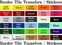 "BORDER Tile Stickers Transfers 150mm / 6""X 35mm for bathroom / kitchen / toilet"