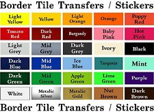 """BORDER Tile Stickers Transfers 150mm / 6""""X 35mm for bathroom / kitchen / toilet"""