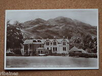 R&L Postcard: Achray Hotel and Ben Venue Trossachs, Vintage Car 1930s