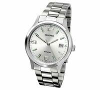 Sekonda Men's Stainless Steel Bracelet Quartz Watch With Date Display NEW_UK