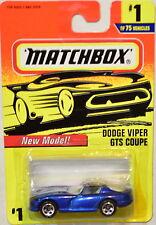 MATCHBOX 1997 DODGE VIPER GTS COUPE NEW MODEL #1/75