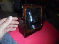 Ancien Petit Miroir Vintage 1970 de Table Loge de Maquillage Salon de Coiffure