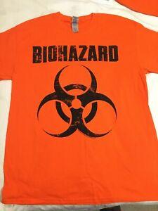 BIOHAZARD Classic Logo T-Shirt  Aust Stock M L Size Get it Quick