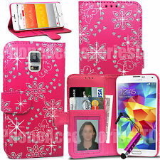 Bling Diamond Wallet Case Flip Cover For Samsung Galaxy S5 S3 S4 Mini S7 S8 S9