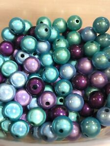 Acrylic Miracle  Beads 5, 6, 8, 10mm 'STEPHIE' wholesale glow disco