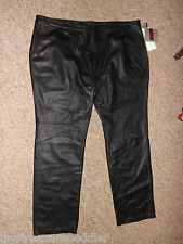 Excelled Mens Black Leather Pants NWT size 50