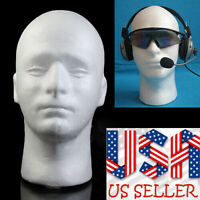 1Pc Male Mannequin Styrofoam Foam Manikin Head Wig Glasses Hat Display Stand USA