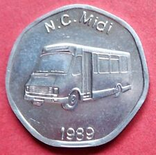 GREAT BRITAIN WITHDRAWN  VINTAGE ALUMINIUM 20p NATIONAL TRANSPORT TOKEN  NC MIDI