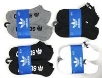 adidas Originals Men's Trefoil No Show Socks 6 Pack Shoe Size 6-12 US