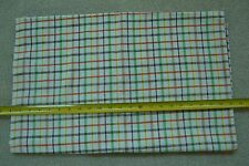 """By-the-Half-Yard, 44"""" Wide, Plaid on Courser Cream Cotton, C1794"""