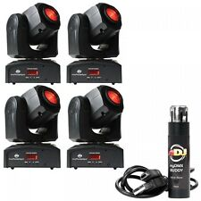 4 x ADJ INNO POCKET Spot Noir Package inc logiciel DMX DISCO LED Moving Head