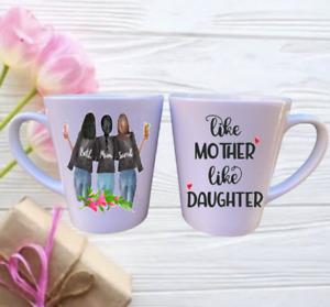 Mum Personalised LATTE Mug - Mum & Daughter - Three Person